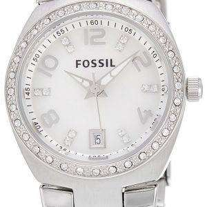 Fossil Flash Swarovski Crystal Mother of Pearl Dial AM4141 Womens Watch