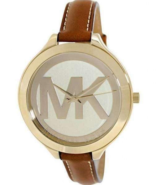 Michael Kors Runway Champagne Dial With MK Logo MK2326 Womens Watch