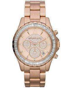 Michael Kors Madison Rose Gold Crystal Chronograph MK5811 Womens Watch