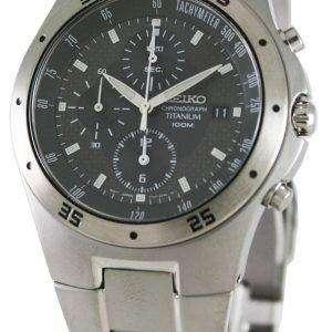 Seiko Mens Titanium Chronograph Watch SND419P1 SND419P