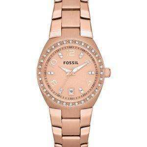 Fossil Serena Crystals Rose Gold-Tone Stainless Steel AM4508 Womens Watch