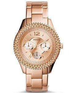 Fossil Stella Multifunction Crystal-Accented ES3590 Womens Watch