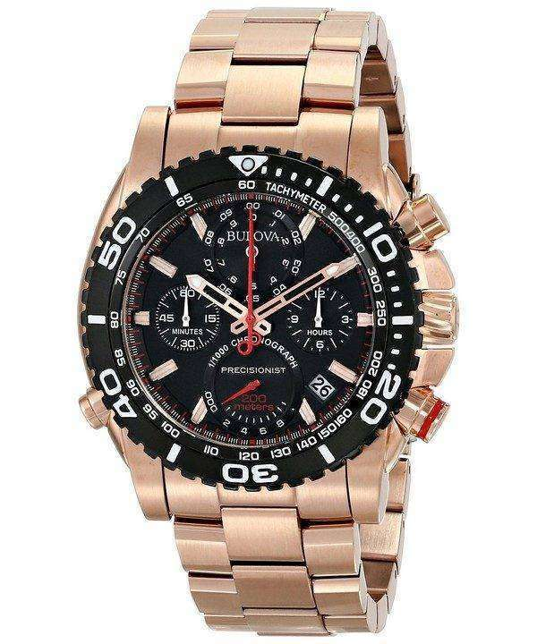Bulova Precisionist Chronograph Tachymeter 200M 98B213 Mens Watch