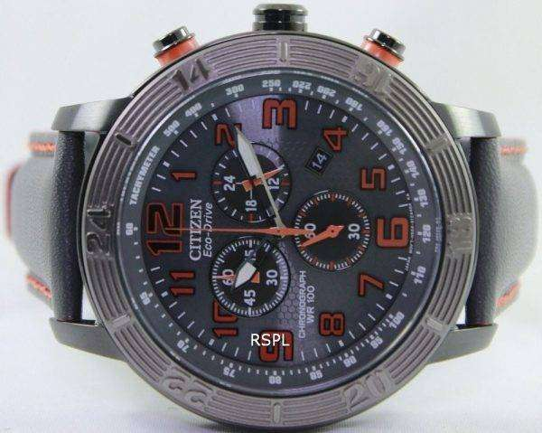 Citizen BRT Eco-Drive Chronograph Tachymeter AT2227-08H Mens Watch