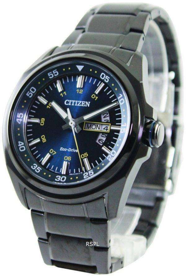 Citizen Eco-Drive Blue Dial Power Reserve AW0024-58L Mens Watch
