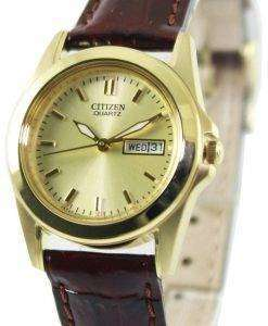 Citizen Quartz Gold Tone EQ0562-03P Womens Watch
