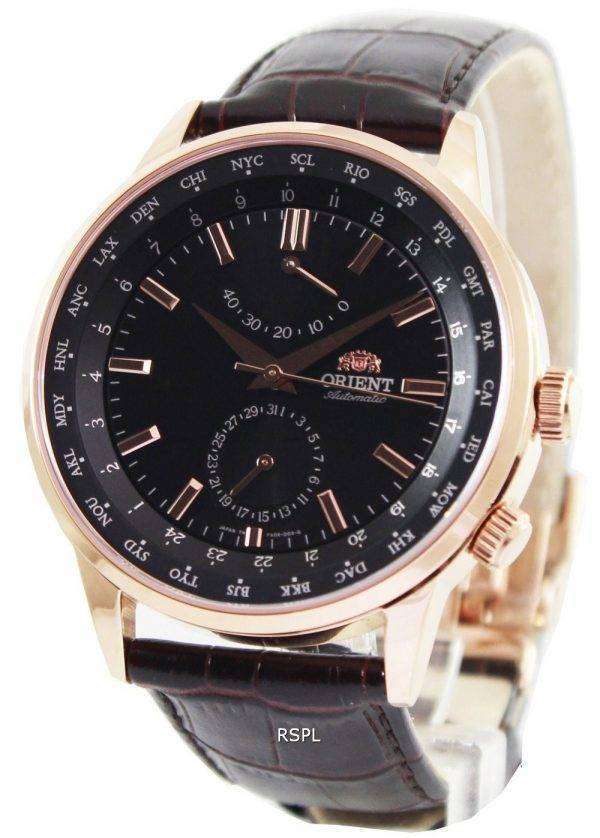Orient Automatic 21 Jewels World Time Power Reserve FA06001B Mens Watch