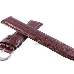 Brown Ratio Brand Leather Strap 20mm For SKX007, SKX009, SKX011, SRP497, SRP641
