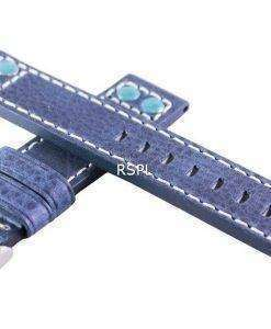Blue Ratio Brand Leather Strap 20mm For SKX007, SKX009, SKX011, SRP497, SRP641