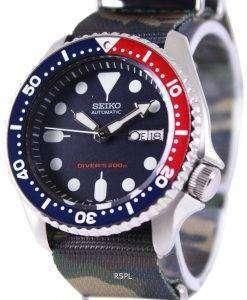 Seiko Automatic Divers 200M Army NATO Strap SKX009K1-NATO5 Mens Watch