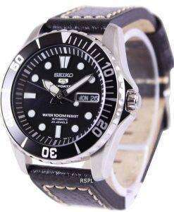 Seiko 5 Sports Automatic Ratio Black Leather SNZF17K1-LS2 Mens Watch