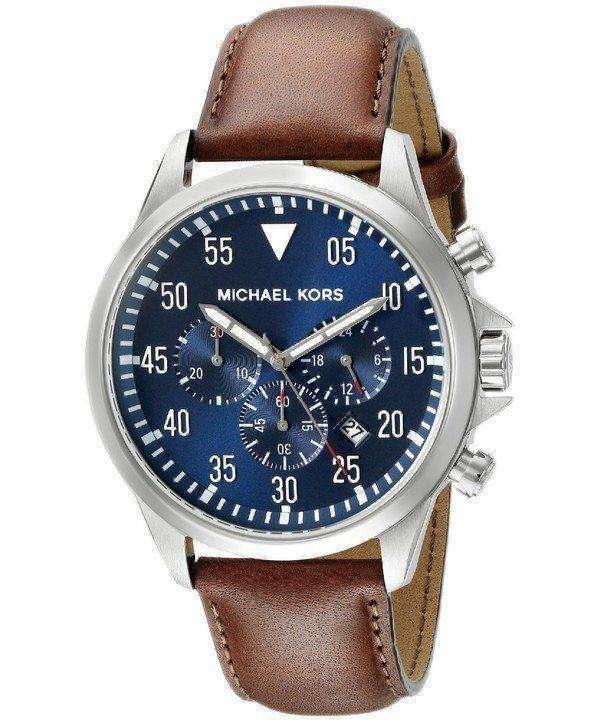 Michael Kors Gage Chronograph Blue Dial MK8362 Mens Watch