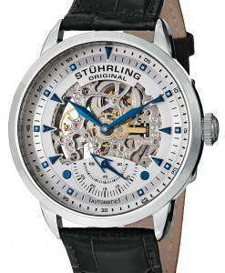 Stuhrling Original Executive Automatic Skeleton Black Leather 133.33152 Mens Watch