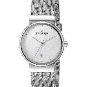 Skagen Silver Tone Mesh Bracelet 355SSS1 Womens Watch