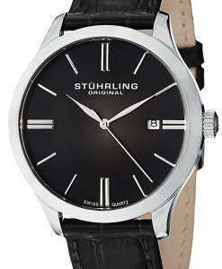 Stuhrling Original Classic Cuvette II Swiss Quartz Date Display 490.33151 Mens Watch