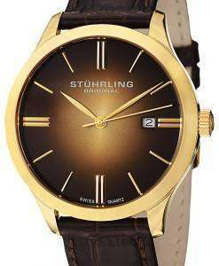 Stuhrling Original Classic Cuvette II Swiss Quartz 490.3335K31 Mens Watch