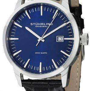 Stuhrling Original Classic Ascot 42 Swiss Quartz Date Display 555A.04 Mens Watch