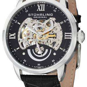 Stuhrling Original Executive II Automatic Black Skeleton Dial 574.02 Mens Watch