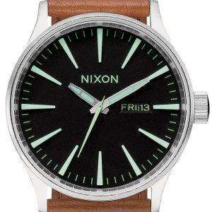 Nixon Quartz Sentry Brown Leather A105-1037-00 Mens Watch