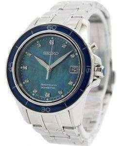 Seiko Sportura Kinetic Diamonds Dial Indices SKA873P1 SKA873P Women's Watch