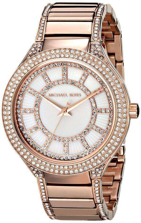 Michael Kors Kerry Crystal Accent Rose Gold Tone MK3313 Women's Watch
