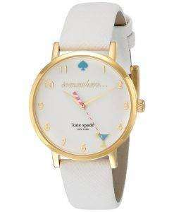 Kate Spade New York Metro Quartz White Enamel Dial 1YRU0765 Womens Watch