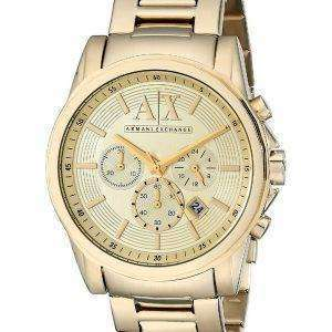 Armani Exchange Quartz Chronograph Gold Tone AX2099 Men's Watch
