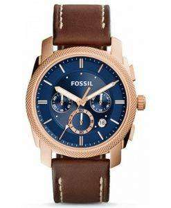 Fossil Machine Chronograph Quartz Brown Leather Strap FS5073 Mens Watch