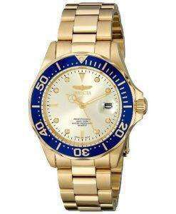 Invicta Pro Diver Quartz Gold Ion Plated 200M 14124 Mens Watch