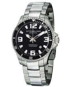 Stuhrling Original Aquadiver Regatta Champion Swiss Quartz 395.33B11 Mens Watch