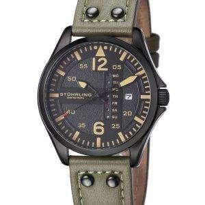 Stuhrling Original Aviator Quartz Day And Date 699.03 Mens Watch
