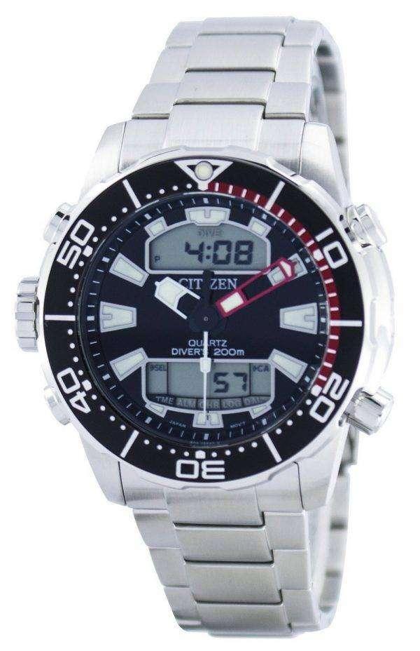 시민 Aqualand Promaster 다이 버의 아날로그 디지털 JP1090 86E 남자의 시계