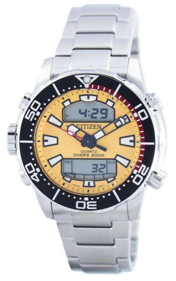 시민 Aqualand Promaster 잠수 부의 200m 아날로그 디지털 JP1090-86 X 남자의 시계