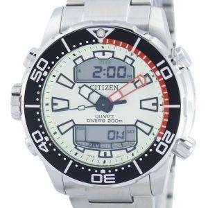 시민 Aqualand Promaster 잠수 부의 200m 아날로그 디지털 JP1091-83 X 남자의 시계