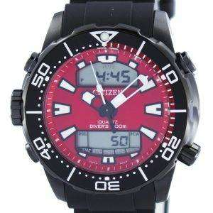 시민 Aqualand Promaster 잠수 부의 200m 아날로그 디지털 JP1095-15 X 남자의 시계