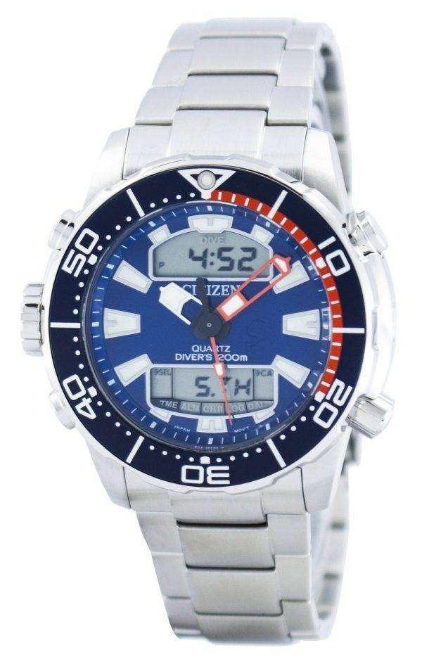 시민 Aqualand Promaster 다이 버의 아날로그 디지털 JP1099-81 L 남자의 시계