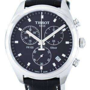 Tissot T-클래식 PR100 쿼 츠 크로 노 그래프 T101.417.16.051.00 T1014171605100 남자의 시계