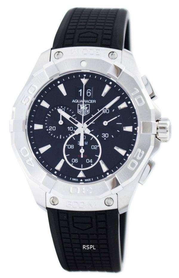 스위스 태그 Heuer Aquaracer 크로 노 그래프 쿼 츠 300 M CAY1110을 했다. FT6041 남자의 시계