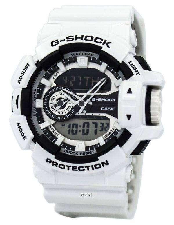 카시오 G 쇼크 아날로그-디지털이-400-7A 남자의 시계