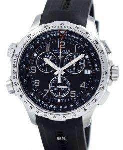 해밀턴 카 키 항공 X 바람 크로 노 그래프 쿼 츠 GMT H77912335 남자의 시계