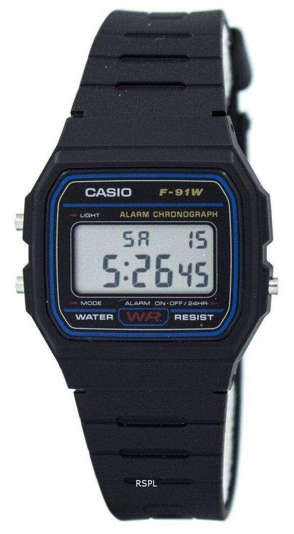Casio 클래식 스포츠 크로 노 그래프 F 91W 1SDG F 91W 1S 남자 시계