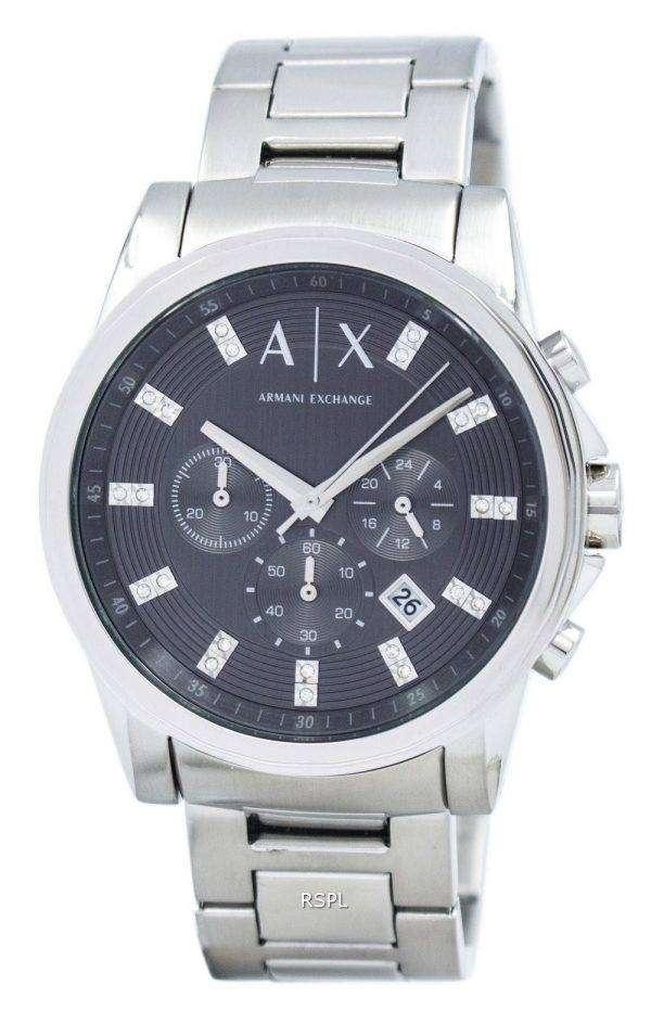 아르마니 익스체인지 크로 노 그래프 크리스탈 그레이 다이얼 AX2092 남자의 시계