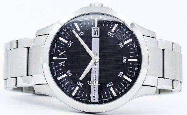 아르마니 익스체인지 블랙 다이얼 스테인레스 스틸 AX2103 남자의 시계