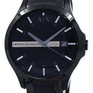 아르마니 익스체인지 블랙 다이얼 스테인레스 스틸 AX2104 남자의 시계