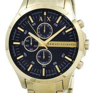 아르마니 익스체인지 석 영 골드 톤 크로 노 그래프 블랙 다이얼 AX2137 남자 시계