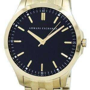아르마니 익스체인지 쿼 츠 블랙 다이얼 골드 톤 스테인레스 스틸 AX2145 남자의 시계
