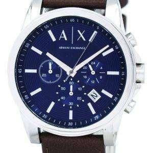 아르마니 익스체인지 쿼 츠 크로 노 그래프 블루 다이얼 AX2501 남자 시계
