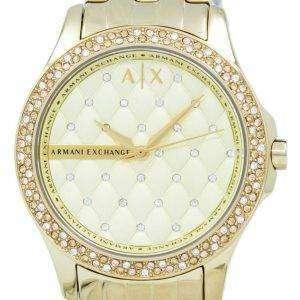 아르마니 익스체인지 레이디 햄튼 샴페인 누비 다이얼 Cyrstals AX5216 여자의 시계
