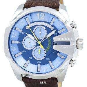 디젤 메가 최고 크 블루 다이얼 DZ4281 남자 시계