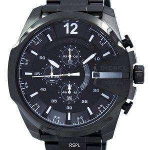 디젤 메가 최고 쿼 츠 크로 노 그래프 회색 다이얼 블랙 IP DZ4283 남자의 시계